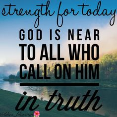 """""""God is Near""""   Read: Psalm 45:18-21 Isaiah 59:1-3   Speaking verse: [Psalm 145:18] The Lord is near to all who call upon HimTo all who call upon Him in truth. . . God is near to all them that call upon Him. When we pray we are calling upon God. Psalm 145:18 says that God listens and draws near to us when we pray. But it goes ahead to tell us the criteria to God being near and listening to us when we call it says  """"God is near to them that call upon Him in truth""""  what does it mean to call…"""