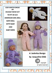 Ravelry: Cosy Onesie or Snuggly Snow Suit Set pattern by Jacqueline Gibb