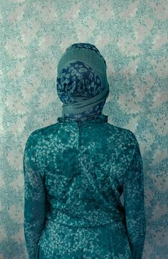With a New Series of Camouflage Self-Portraits, Lucia Fainzilber Does Anything But Blend In Dark Photography, Street Photography, Portrait Photography, Camouflage, Pattern Recognition, Monochrome Fashion, Portraits, Turquoise, Teal
