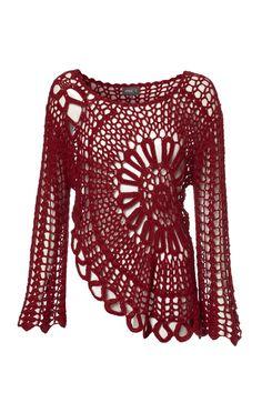 Crochet Bell Sleeve Top. https://s-media-cache-ak0.pinimg.com/originals/ea/0d/2d/ea0d2d6a656ce6987cf58295b31bba9f.jpg