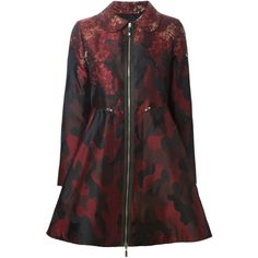 Moncler Gamme Rouge Camouflage Jacquard Padded Moncler- Red And Black Feather jacket