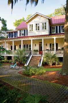 The Vintage Lowcountry plan has a large porch perfect for watching the water