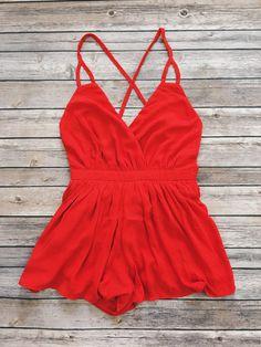 Summer Nights Romper (Red)