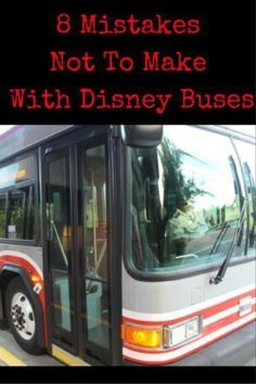 Here are 8 Mistakes Not To Make With Disney Buses: You don't know how many times I see people doing Disney World Florida, Walt Disney World Vacations, Disney Trips, Disneyland Vacations, Disney Travel, Disney World Secrets, Disney World Magic Kingdom, Disney World Tips And Tricks, Disney Vacation Planning