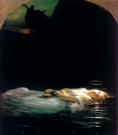 La Jeune Martyre (The Young Martyr) by Paul Delaroche.  We saw this in the Louvre in Paris.  It is the beautiful yet disturbing depiction of a young girl killed because of her Christian faith.