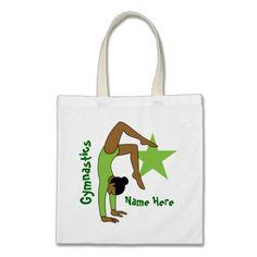 Girl Gymnast Canvas Bags
