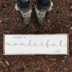 What A Wonderful Life Wood Sign. Farmhouse Decor. Rustic