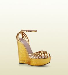 8772db17b4d Love this  Alice Metallic Leather High-heel Wedge Sandal  Lyst Shoes Flats  Sandals