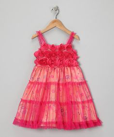 Take a look at this Pink Hannah Babydoll Dress - Infant, Toddler & Girls by Little Mass on #zulily today!