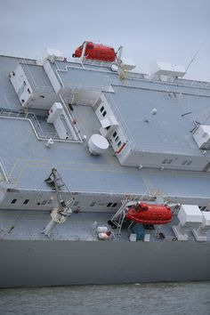 Crew Rescued From Listing Car Carrier Ship Hoegh Osaka, Tilting 45 Degrees In The Solent (Pictures)