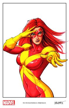"""themarvelproject: """" Jean Grey in her X-Factor costume by Scott Dalrymple (2016) """""""
