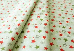 Riley Blake A Merry Little Christmas Stars Green C3375