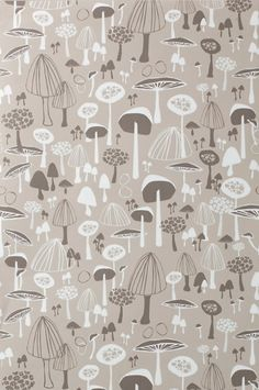 Ferm Living wallpaper Mushroom Soup