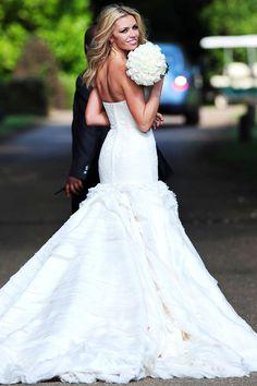 Abbey Clancy wedding dress - Giles Deacon