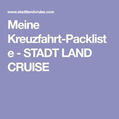 Meine Kreuzfahrt-Packliste - STADT LAND CRUISE