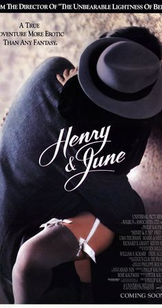 """Directed by Philip Kaufman.  With Fred Ward, Uma Thurman, Maria de Medeiros, Richard E. Grant. In 1931 Paris, Anais Nin meets Henry Miller and his wife June. Intrigued by them both, she begins expanding her sexual horizons with her husband Hugo as well as with Henry and others. June shuttles between Paris and New York trying to find acting jobs while Henry works on his first major work, """"Tropic of Cancer,"""" a pseudo-biography of June. Anais and Hugo help finance the book, but June is..."""
