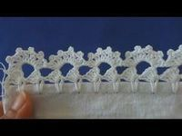 Barrado de crochê carreira única #143 - YouTube Crochet Boarders, Crochet Edging Patterns, Doily Patterns, Crochet Designs, Crochet Stitches, Filet Crochet, Crochet Doilies, Crochet Flowers, Crochet Lace