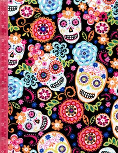 Fabric for Sewing Mexico Day Of The Dead, Day Of The Dead Art, Skull Wallpaper, Iphone Background Wallpaper, Sugar Skull Artwork, Sugar Skulls, Ed Hardy Designs, Ed Hardy Tattoos, Loteria Cards