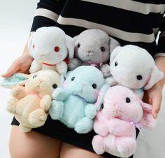 Pote Usa Loppy Pop Rabbit Plüsch-Kollektion (Standard) - My stuff - Plush Cute Stuffed Animals, Cute Animals, Plushie Patterns, Cute Plush, Bunny Plush, Mode Shop, Cute Pillows, Kawaii Shop, All Things Cute