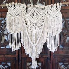 Large boho macrame wall hanging www.creativebowerbird.com