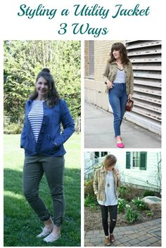 I am joining some of my fellow Aventura Ambassadors to share how we style a utility jacket during this transitional season. Eco Friendly Fashion, Utility Jacket, Casual Chic, Spring Summer, Seasons, Jackets, Clothes, Style, Casual Dressy