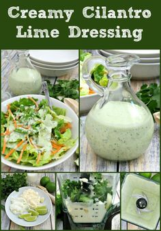 Creamy Cilantro Lime Dressing collage