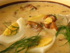 Quick potato sauce with mushrooms Good Food, Yummy Food, Tasty, Czech Recipes, Ethnic Recipes, Potato Sauce, Food 52, Cheeseburger Chowder, Allrecipes