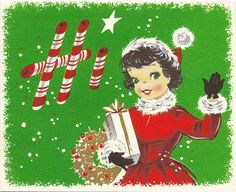 Hi there! ~ '50s Christmas card