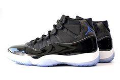 Air Jordan Black Retro 11 Space Jam Sneakers Size US 7.5 Regular (M f0f572a1e
