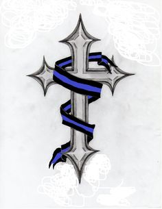 police blue line tattoo - Google Search