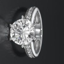 Holyland-2.6 CT CERTIFIED REAL DIAMOND PROMISE RING 14K W GOLD 5