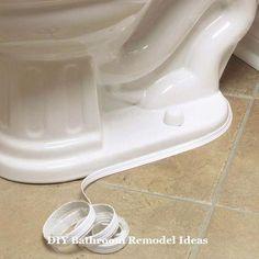Waterproof Caulk Tape makes cleaning around the toilet easier.Waterproof Caulk Tape makes cleaning around the toilet easier. Diy Bathroom Remodel, Bath Remodel, Bathroom Makeovers, Attic Remodel, Toilet Sink, Home Repairs, Diy Home Improvement, Home Hacks, Bath Accessories