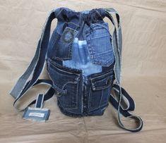 Garyusha Denim Bags Design, Denim Riga, Latvia by GaryushaDenimBags Jean Backpack, Denim Tote Bags, Big Bags, Shopper Bag, Casual Bags, Backpacker, Mom Jeans, Dresser, Etsy