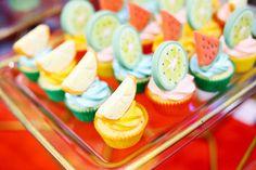 Fruit cupcakes from a TWOtti Frutti Birthday Party on Kara's Party Ideas | KarasPartyIdeas.com (12)