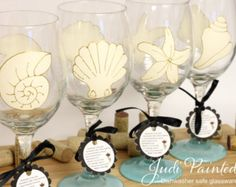 Huge 20oz dishwasher safe hand painted wine glasses.  All wine glasses come with a crush proof branded gift box. FREE personalization. Click for more info. Super fast delivery.