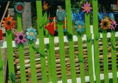 Flower pallet fence