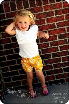 Bubble Shorts Girls Shorts Pattern Baby door PeekabooPatternShop, $7.95