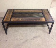 I have steel a steel coffee table. all made to order. I can build to your desired deminsions.