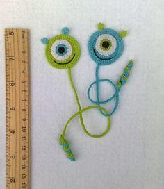 Crochet Bookmark monster Gift ideas for book lovers by ElenaGift