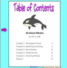 171-180 locates information in a table of contents or title page in informational text