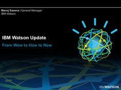 IBM Watson Update and 2013 Roadmap