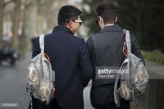 PARIS, FRANCE - MARCH 01: Brian Boy (L) seen wering a Chanel... #rold: PARIS, FRANCE - MARCH 01: Brian Boy (L) seen wering a Chanel… #rold