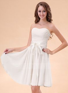 Homecoming Dresses - $112.99 - A-Line/Princess Sweetheart Knee-Length Chiffon Charmeuse Homecoming Dress With Ruffle (022014405) http://jjshouse.com/A-Line-Princess-Sweetheart-Knee-Length-Chiffon-Charmeuse-Homecoming-Dress-With-Ruffle-022014405-g14405?ver=xdegc7h0