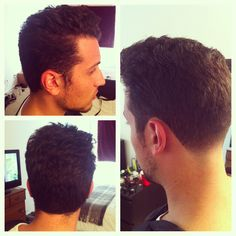 My version of the Johnny Cash hair cut with a tapered neckline!! Men's hair