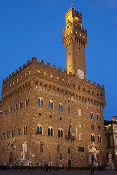 Palazzo Vecchio, Florence, Italy - I got so high drinking wine at a table at that Piazza, that I had a headache for least a day!