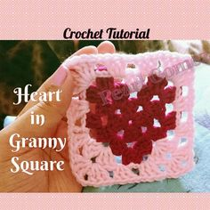 Crochet along with me ' The Heart in Granny Square ' pattern with the slip stitch method. ^^^ Expand me to Learn More ^^^ ♥ ♥ THUMBS UP for more Step by Step...
