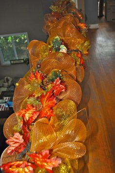 Your place to buy and sell all things handmade Deco Mesh Garland, Fall Garland, Garland Ideas, Harvest Decorations, Thanksgiving Decorations, Holiday Decorations, Christmas Mesh Wreaths, Fall Wreaths, Fall Fireplace