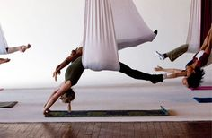 Aerial Yoga! I definitely want to try!