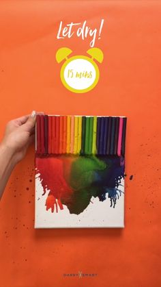 Crayon Upcycle: H ow to Turn Crayons into Crazy Cool Wall Art 57 Ideas House Decorating Diy Videos New Arts And Crafts Storage Create fun, quick How-To videos to share with friends. Darby Smart is the most popular video community for beauty, food, DIY and Cool Wall Art, Diy Wall Art, Diy Art, Crafts To Do, Arts And Crafts, Cool Crafts, Diy Tableau, Melting Crayons, Cool Walls