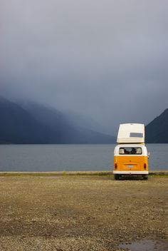 misty camping : Mo Wu : -- nelson lakes, new zealand Vw Camping, Glamping, Wolkswagen Van, Islas Cook, Kombi Home, Road Trip, Combi Vw, Adventure Is Out There, Van Life